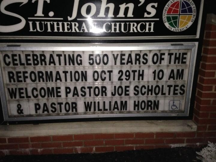 St. John's signboard